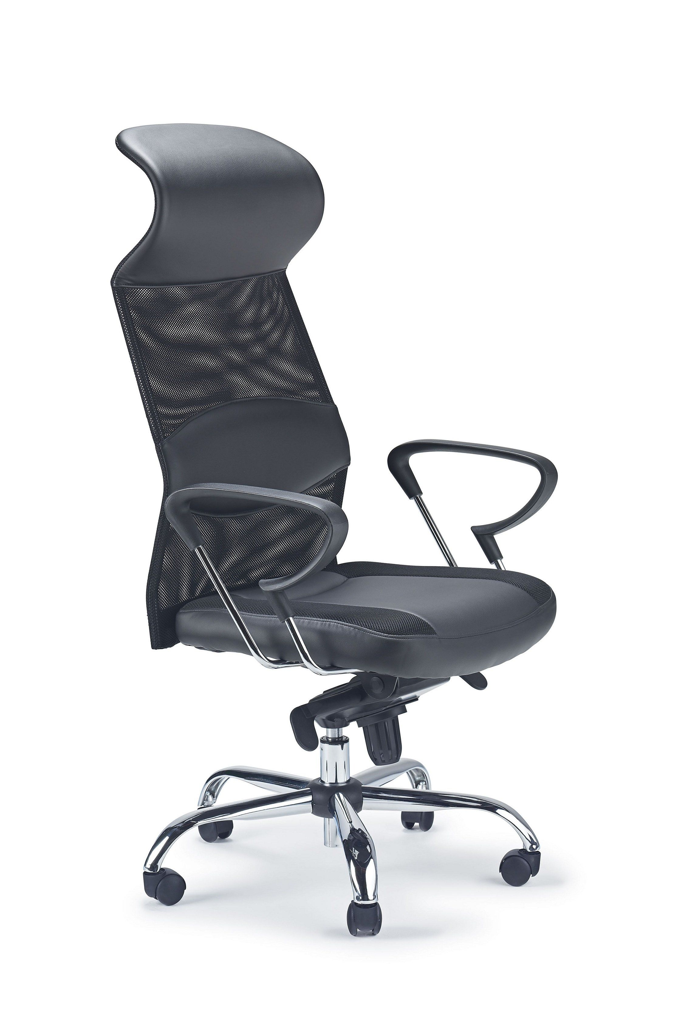Picture of: Mesh Leather Swivel Chair Good Lumbar Support