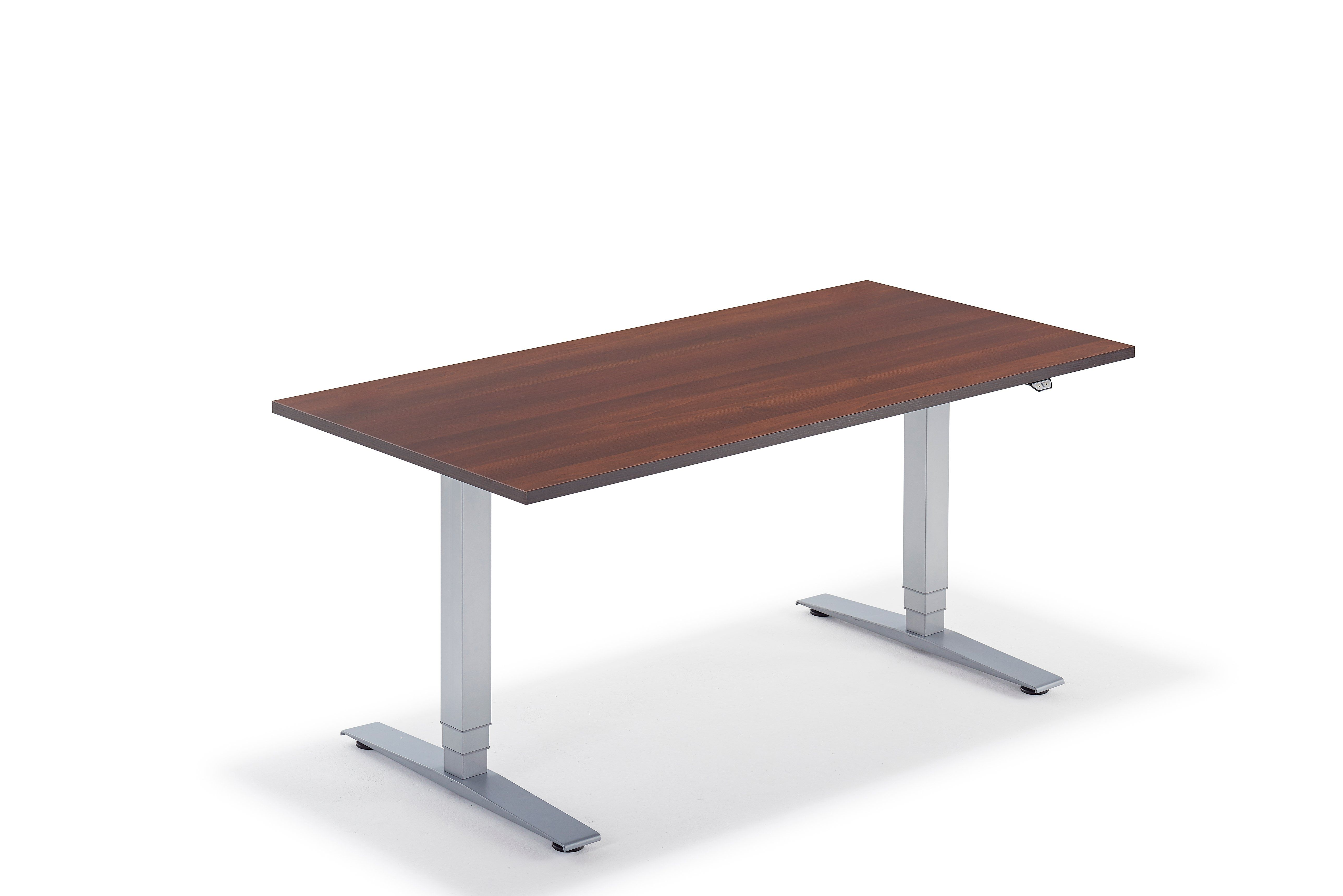 Walnut Adaptable Sit Stand Height Adjustable Electric Desk