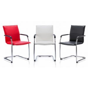 Leather Meeting Chair with Cantilever Frame (Group Image)