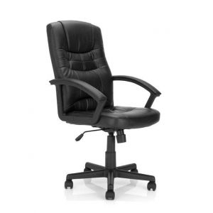 Leather Effect High Back Executive Armchair