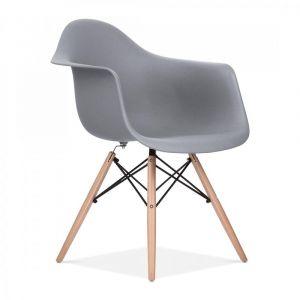Grey Charles Eames Style DAW Chair