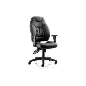Ergonomic Leather Swivel Office Chair