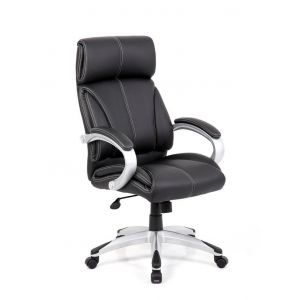 Cloud Leather Faced Managers Chair Black