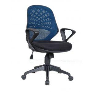 Mesh Back Operators Chair - Blue