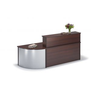 Straight Reception Desk With Curved Base Unit