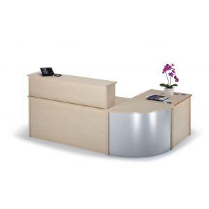 Curved Maple Reception Desk Bundle