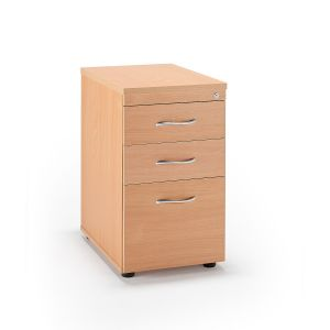 Second Hand Beech Desk High Pedestals