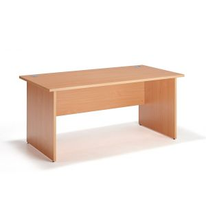 Beech Straight Panel Ended Office Desk
