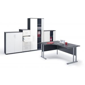 Graphite Grey Office Furniture Suite 1