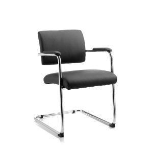 Leather Cantilever Side Chair 2