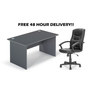 Home Office Desk And Chair Set Bundle - Free 48 Hour Delivery