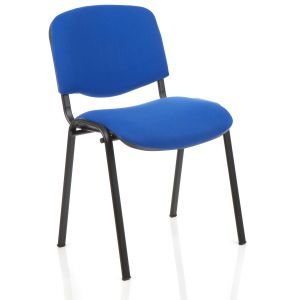 Stackable Metal Office Chair - Blue