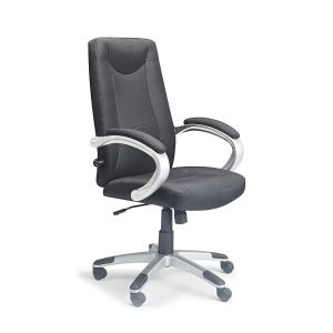 Black Fabric Lucca Posture Chair With Adjustable Lumbar Support