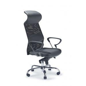 Mesh/Leather Swivel Chair (Good Lumbar Support)