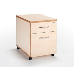 Maple Under Desk Mobile Pedestal