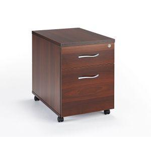 Walnut Under Desk Mobile Pedestal