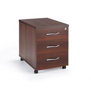 Second Hand Walnut Under Desk Mobile Pedestal