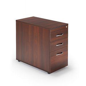 Second Hand Walnut Desk High Pedestals