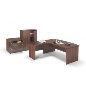 Walnut Office Furniture Suite 4