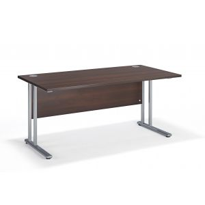 Walnut Straight Office Cantilever Desk