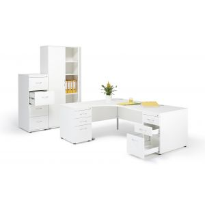 Left Hand Desk with Pedestals