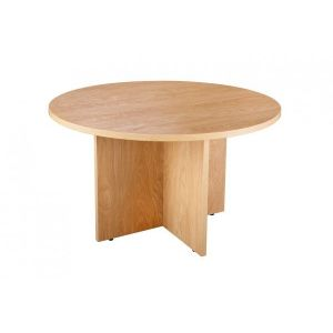Managers Executive Office 1200mm Diameter Table Crown Oak
