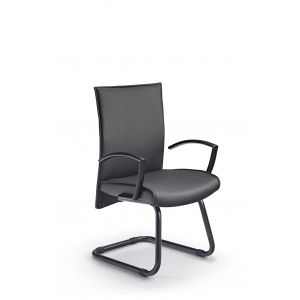 Modern Black Cantilever Chair