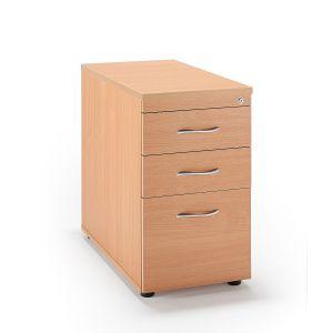 Second Hand Beech Desk High Pedestals
