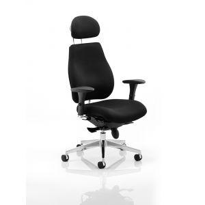24 Hour Posture Chair with Contoured Back (Chiropractor Approved) - Wine With Headrest