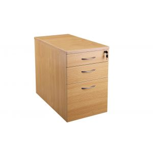 Light Oak Desk High Pedestal