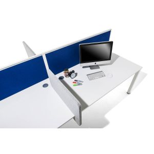 Acoustic Dampening Fabric Desk Mounted Screens