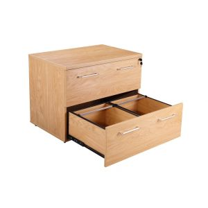 Managers Executive Office Side Filing Cabinet Crown Oak