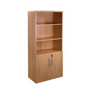 Managers Executive Office Combination Cupboard And Bookcase Crown Oak