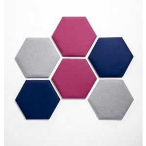 Hexagonal Acoustic Dampening Wall Panels