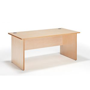 Maple Straight Panel Ended Office Desk
