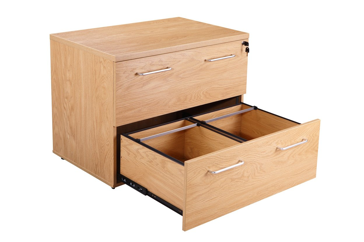 Managers Executive Side Filing Cabinet Crown Oak