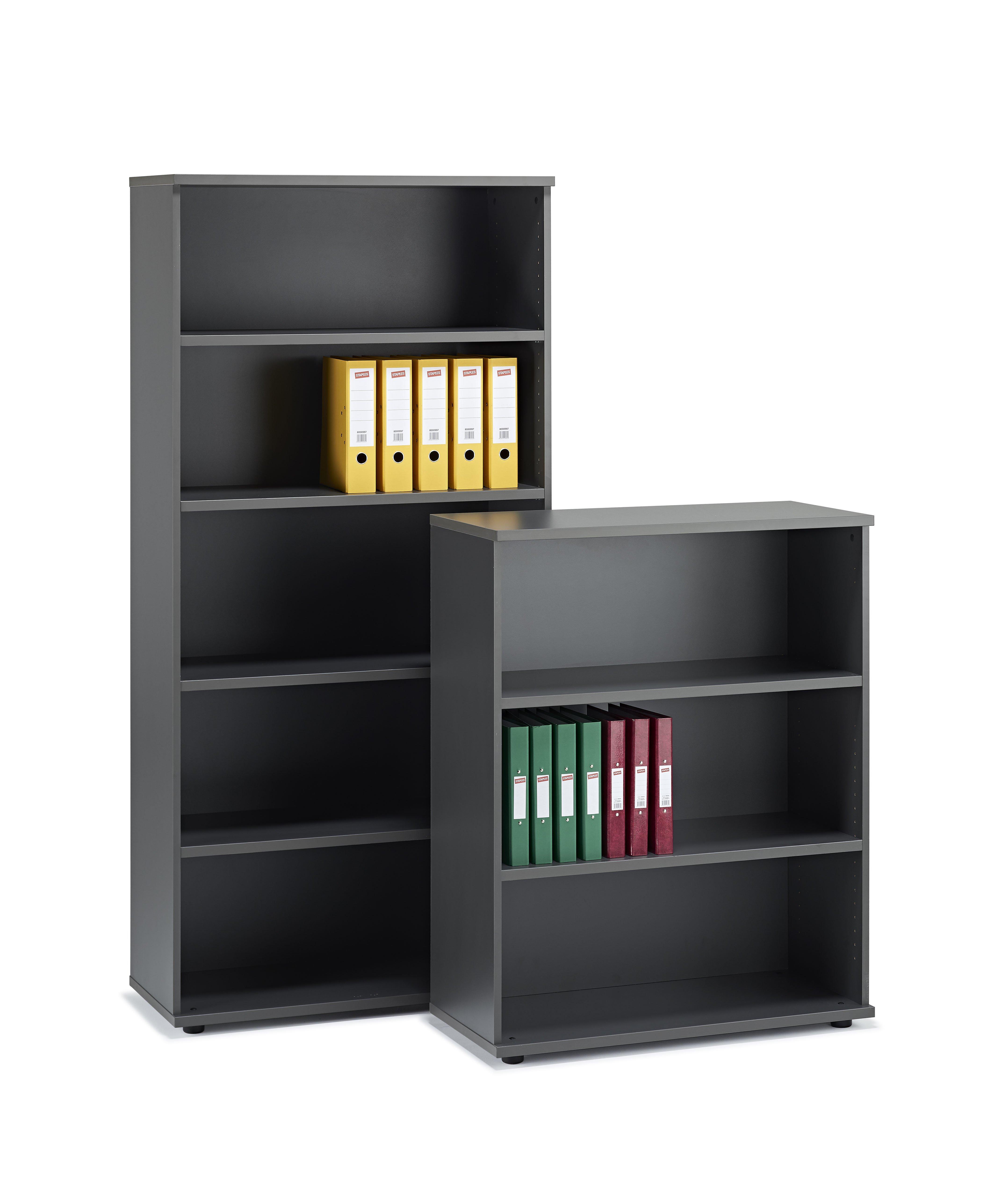 Next Day Graphite Grey Office Bookcase