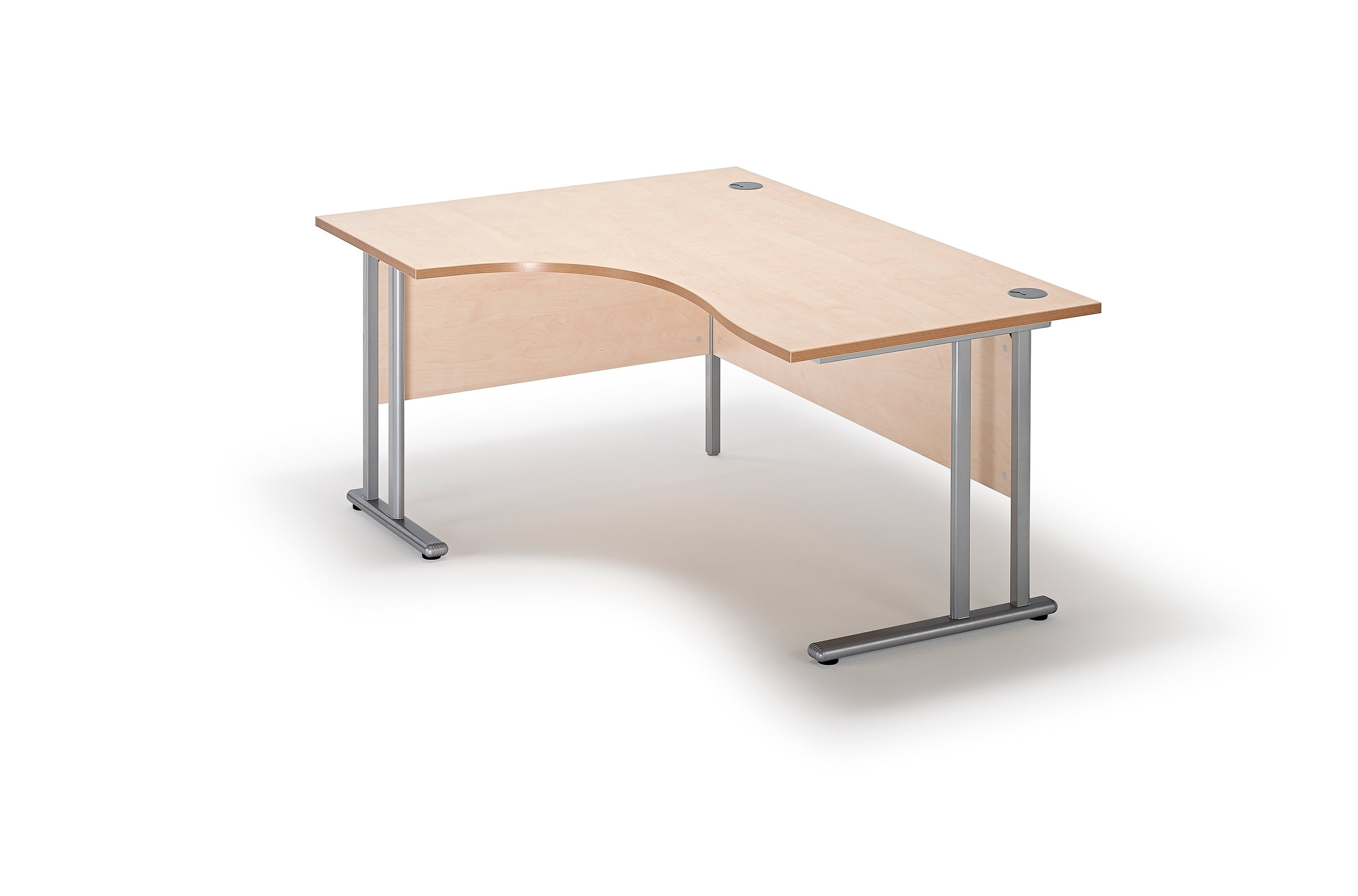 next day maple curved executive cantilever office desk