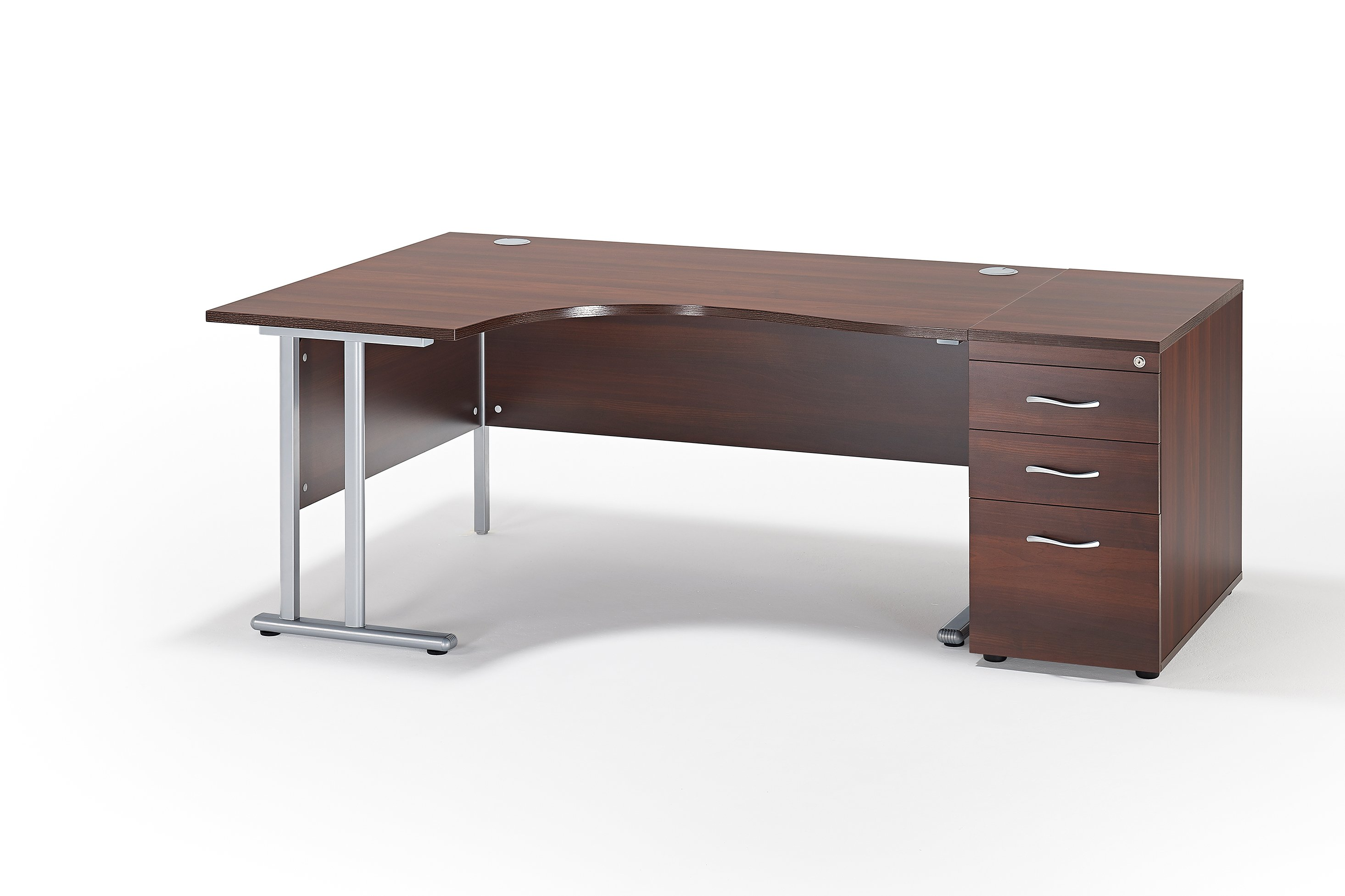 next day curved white cantilever office desk and 800mm deep desk high