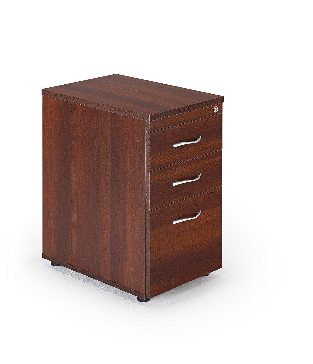 Office Storage Office Pedestals Desk High Pedestal In Walnut Finish