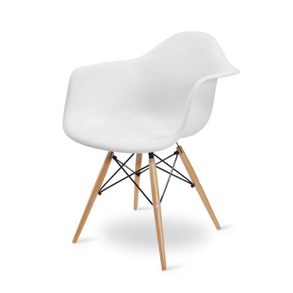White Charles Eames Style DAW Tub Chair