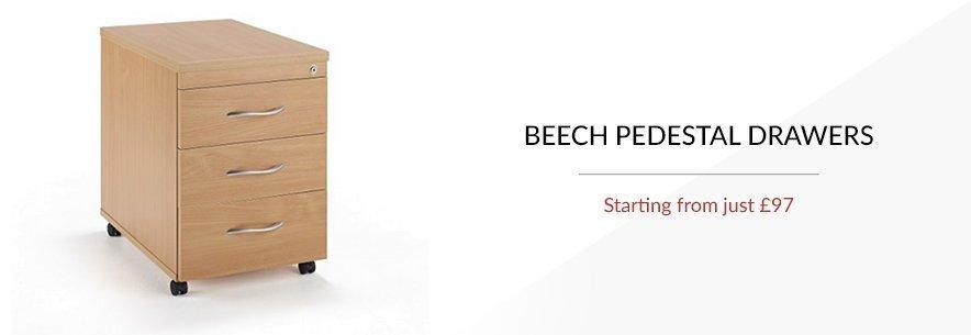 Beech Pedestal Drawers
