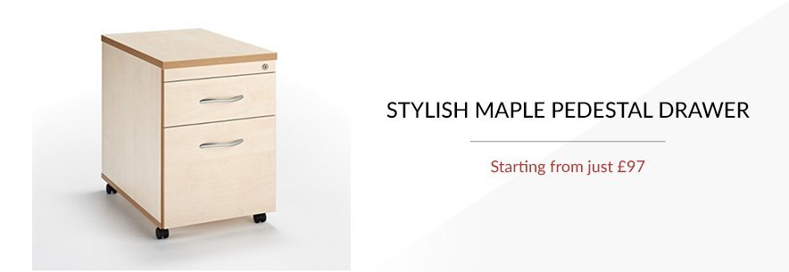 Maple Pedestal Drawers