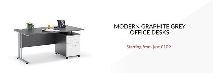 Graphite Grey Office Desks