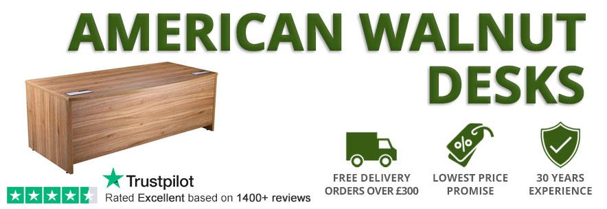 American Walnut Office Desks