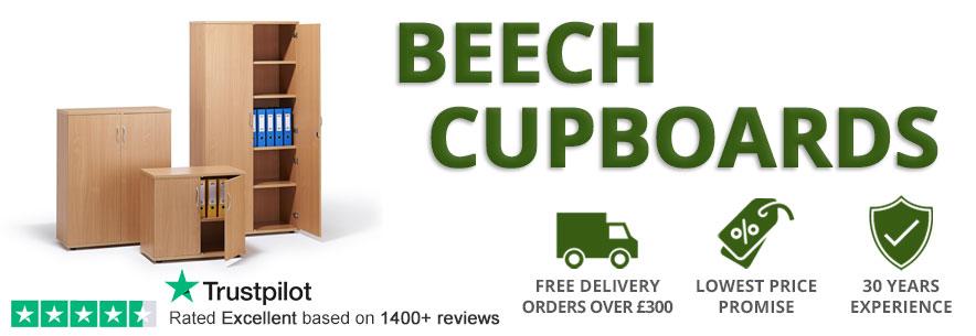 Beech Office Cupboards