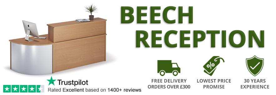 Beech Reception Desks