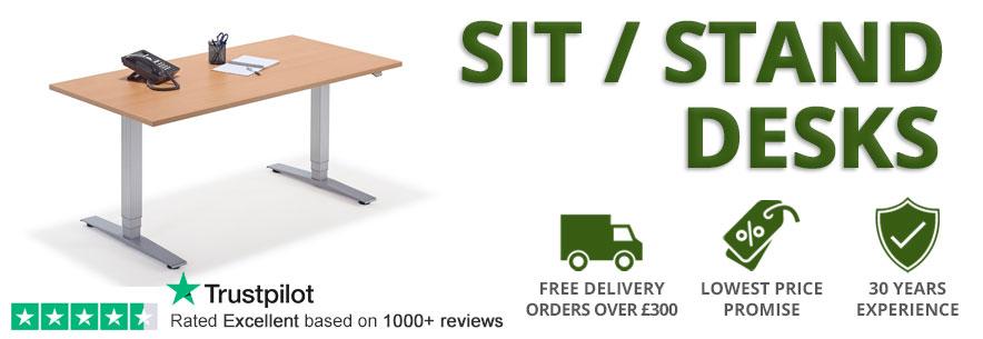 Sit Stand Adjustable Height Desks