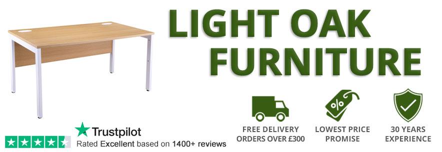light oak office furniture