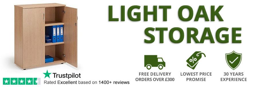 light oak storage